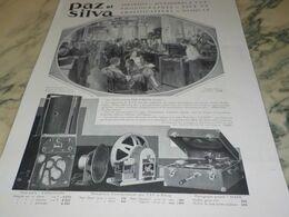 ANCIENNE PUBLICITE TSF ET PHONOGRAPHE  PAZ ET SILVA  1930 - Manifesti
