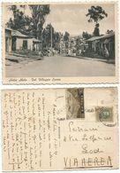 Ethiopia Italy Colony Era Addis Abeba Ethiopia Villaggio Savoia B/w Pcard 1nov1931 X Italy With 2 Stamps + 1 Missed - Äthiopien
