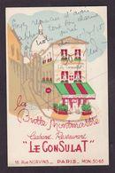 CPA Publicité Cabaret Restaurant Montmartre Signature Autographe à Identifier Non Circulé - Werbepostkarten