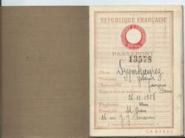 PASSEPORT REPUBLIQUE FRANCAISE 1934 - Documenti Storici