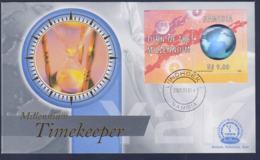 Namibia Cover Millennium Timekeeper Turn Of The Millenium Hologram Souvenir Sheet  (NB**LAR9-161) - Namibia (1990- ...)