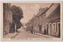 CPA : Neuvy Saint Sepulcre  (36) Avenue Thabaud Boislareine Medecin Vétérinaire Pompe à Essence Shell Ed Roussel - Other Municipalities