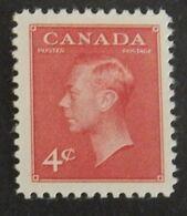 "CANADA YT 239 NEUF* MH ""GEORGE VI"" ANNÉES 1949/1951 - 1937-1952 Règne De George VI"