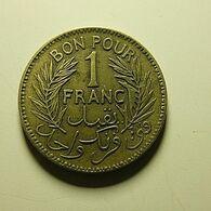 Tunisia 1 Franc 1945 - Tunisia