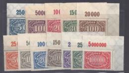 Deutsches Reich Michel Nummer 246-257 Ecke Rechts Postfrisch - Unused Stamps