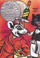 CPM Timbre Monnaie Tirage Limité 30 Ex Numérotés Signés Non Circulé Chat Cat Souris Mouse - Briefmarken (Abbildungen)