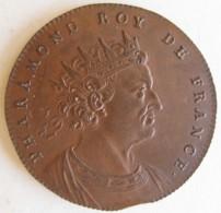 Medaille Pharamond Roy De France, Gravée Par Thomas Bernard En 1712 - Royaux / De Noblesse
