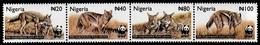 (029) Nigeria  WWF / Animals / Animaux / Tiere / Dieren / 2003 / Strip (folded) ** / Mnh   Michel 762-65 - Nigeria (1961-...)