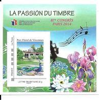 Bloc FFAP N° 9 Parc Floral De Vincennes - FFAP