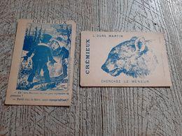 2 Images Publicitaire Crémieux Tailleur Rue Thiers Le Havre L'ours Martin Carte Jeu - Altri