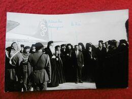 ATHÉNAGORAS 1er DE CONSTANTINOPLE 1964 ROI HUSSEIN AMMAN AEROPORT CARTE PHOTO - Historische Persönlichkeiten