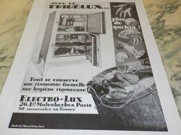 ANCIENNE PUBLICITE PLUS DE GACHIS  FRIGELUX 1930 - Manifesti