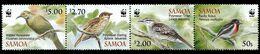 (042) Samoa / WWF / Birds / Oiseaux / Vögel / Vogels  ** / Mnh  Michel 1067-70 - Samoa