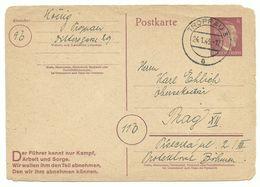 Troppau Opava Ganzsache 24.4.45 Nach Prag - Sudetenland