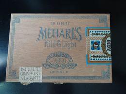 Boîte En Bois De Cigares Meharis Made In Holland, Boîte Vide - Boites à Tabac Vides