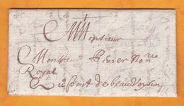 1667 - Lettre Avec Correspondance De 2 Pages De Chereng, Flandre, Auj Nord Vers Le Pont De Beauvoisin, Auj Isère - ....-1700: Vorläufer