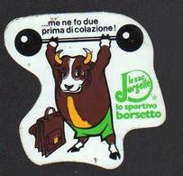 Stikers Borsetto Lo Sportivo Le Sac Jorgette Toro Sollevamento Pesi Borsa Weightlifting Haltérophilie Bull FAS00081 - Stickers