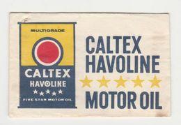 Suikerzakje - Sachet De Sucre CALTEX Havoline Motor Oil - Zucchero (bustine)