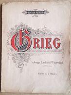 Partition GRIEG Solvejgs Lied Und Wiegenlied Aus Peer Gynt. Klavier  Zu 2 Händen. Ed. PETERS N° 3515 (7 Pages) - Strumenti A Tastiera