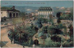 69 - LYON - CPA - La Gare De Perrache - L'Hotel Terminus - Le Cours Du Midi - Lyon 2