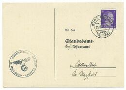 Troppau Opava Postkarte WÜST POHLOM 1941 Standesamt - Sudetenland