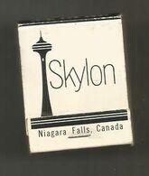 Boite D'allumettes , Pochette, SKYLON ,Niagara Falls , Canada , Dining Room , Banquets, Terrace Café , 2 Scans - Matchboxes