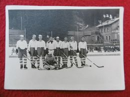 EQUIPE DE HOCKEY SUR GLACE MONTANA CRANS CARTE PHOTO DUBOST - Hockey (Ijs)
