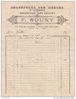 21 BEAUNE FACTURE 1925 CHAUSSURES Su Rmesure Et Confections F. SOUNY  -  Y54 - France