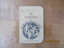 CARNET DU COEUR VAILLANT 1938 - Movimiento Scout