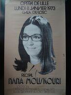 LOSC Affiche Gala Du LOSC Nana Mouskouri Du 8 Janvier 1973 Opéra De Lille - Manifesti