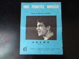 Adamo Partition Vous Permettez Monsieur 1963 - Scores & Partitions