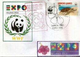 SAMOA EXPO UNIVERSELLE MILAN 2015 Lettre Du Pavillon SAMOA à L'EXPO MILAN, Avec Timbre WWF SAMOA - 2015 – Mailand (Italien)