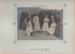 Hôpital BRETONNEAU Médecins  Et Personnels Nommés - Photo Argentique Format 18 X 13 Cm Sur Carton 29 X 23 - 1905 - Fotos