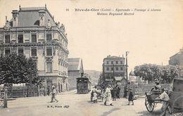 Rive De Gier         42      Egarande Passage A Niveau Maison Reynaud.Marcel . Tramway      (voir Scan) - Rive De Gier
