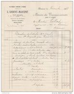 21 BEAUNE FACTURE 1933 Platrerie Peinture E. COURTOT MARCENOT   - Y54 - France