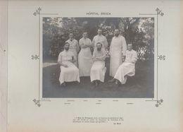Hôpital BROCA Médecins  Et Personnels Nommés - Photo Argentique Format 18 X 13 Cm Sur Carton 29 X 23 - 1905 - Fotos