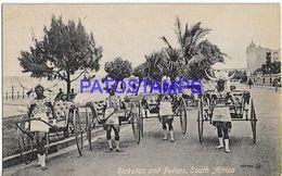 139614 SOUTH AFRICA COSTUMES NATIVE RIKSHA AND PULLERS  POSTAL POSTCARD - Cartoline