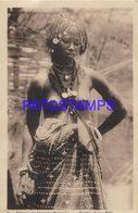 139615 AFRICA SENEGAL DAKAR COSTUMES NATIVE WOMAN SEMI NUDE YEAR 1939 BREAK POSTAL POSTCARD - Cartoline