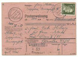 Troppau Opava Postanweisung 26.3.45 (!) Nach Wien R! - Sudetenland