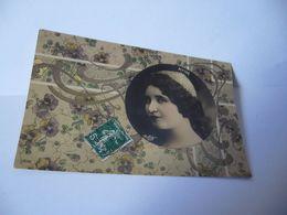 PORTRAIT DE JEUNES FEMMES RITTER REDHLINJER PARIS CPA 1905 - Women