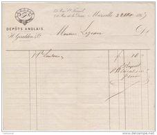 13 MARSEILLE FACTURE 1865 DEPOTS ANGLAIS  GIRALDON & Cie - G4 - France