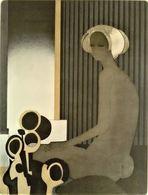 AFFICHE ANCIENNE ORIGINALE MINAUX EXPOSITION OEUVRE GRAVE 1978 Galerie Sagot-Le Garrec Paris 6 - Manifesti