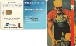Denmark - Tele Danmark (chip) - Bjarne Riis Biker - TDP109 - 02.1997, 50kr, 30.000ex, Used - Denmark