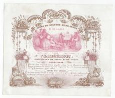 1 Carte Porcelaine  Cours De Solfège Et De Chant  F. L. Hemelsoet   Professeur  Gand  Litho. D.Hemelsoet - Porzellan