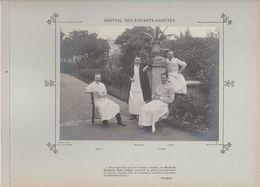 Hôpital Des ENFANTS ASSISTES Médecins  Et Personnels Nommés Photo Argentique Format 18 X 13 Cm Sur Carton 29 X 23 - 1905 - Photos