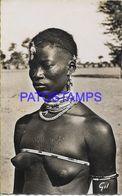 139617 AFRICA OCCIDENTAL COSTUMES NATIVE WOMAN SEMI NUDE POSTAL POSTCARD - Cartoline