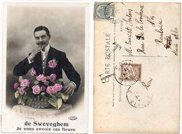 De SWEVEGHEM Je Vous Envoie Ces Fleurs - CPA Taxée    (119665) - Andere
