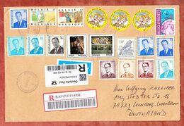 Grossbrief, Einschreiben Reco, Tag Der Briefmarke U.a., Etterbeek Nach Leonberg 2014 (96482) - Belgium