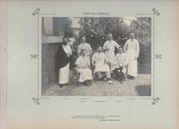 Hôpital HEROLD Médecins  Et Personnels Nommés Photo Argentique Format 18 X 13 Cm Sur Carton 29 X 23 - 1905 - Photos