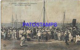 139618 AFRICA SENEGAL DAKAR COSTUMES NATIVE 4º EMBARKATION FOR MOROCCO YEAR 1908 SPOTTED POSTAL POSTCARD - Cartoline